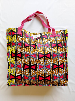 Pink and Gold Shopping Bag
